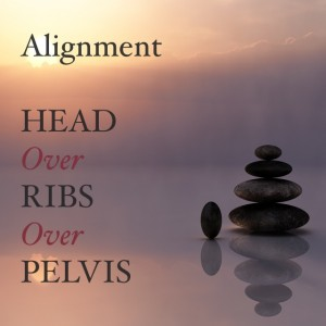 ribs over pelvis